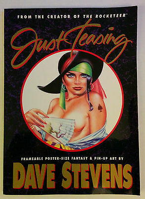 Just Teasing Dave Stevens Frameable Poster-size Pin-up art 1991 Softcover 1st Ed