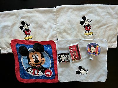 Mickey Mouse Bathroom Lot Hand Towels Washcloth Night Light Soap Light Switch