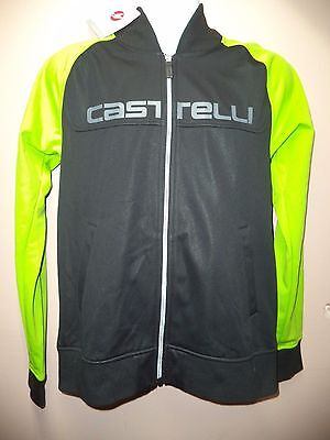 Authentic Castelli Nwt-Men's Jacket/black & Green-Size L-Perfect For Spring !!