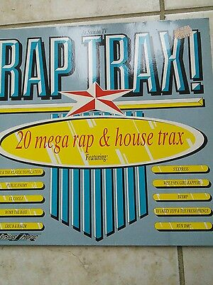 Various ‎– Rap Trax! Vinyl Record LP SMR859 G/F 1988 UK Public Enemy Run DMC