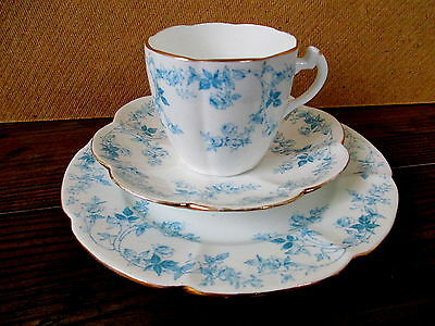 Art Deco / Vintage China Tea Set Trio.Pre Shelley,Foley Wileman.10047.British.