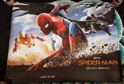 Spiderman Homecoming 2017 Marvel Cinema Quad Poster Genuine Brand New