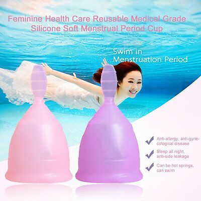 Feminine Health Care Medical Grade Silicone Soft Menstrual Period Cup UK