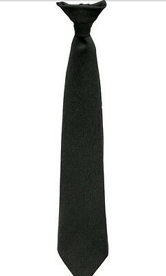 Black Security Clip on tie
