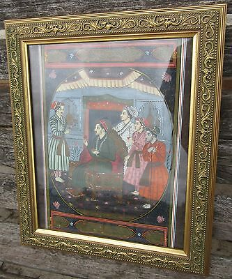 Vintage Gouache Indian Miniature Painting. Ajit Singh And Sons ?