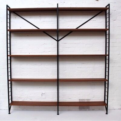 "Staples vintage modular bookshelf ""Ladderax"", Robert HEAL / String Shelves"