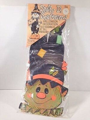 """Vintage Peck STUFFY D. SCARECROW 40"""" Jointed Scarecrow Halloween Decoration New"""