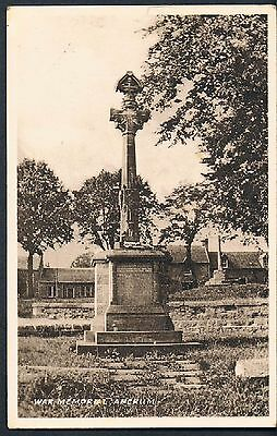 Postcard War Memorial Ancrum 1951