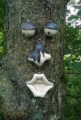Garden Tree Face Novelty Garden Ornament Decoration Funny Wall Fence Summer Fun