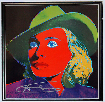 "(485) Andy Warhol, HANDSIGNIERT, ""Ingrid Bergman - With Hat"""