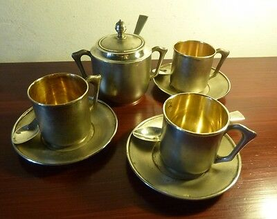 Vintage Continental Solid Silver Coffee Set - 314 Grams