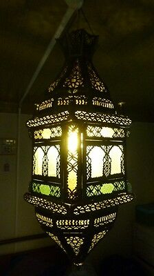Large Antique Moroccan Lamp