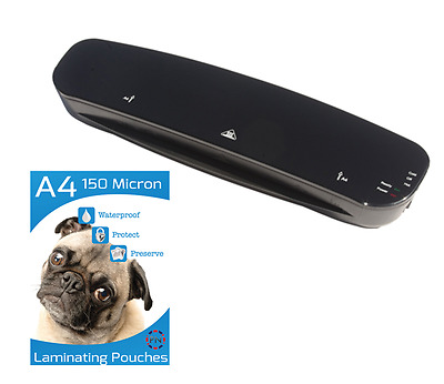 A4  Laminator - 250 Micron - with 25 Laminating Pouches