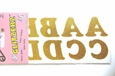 BN NEW Glitzerz Pack of 40 Gold Glitter Letters 32mm High
