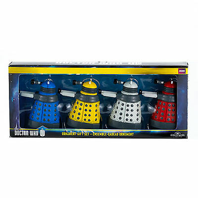 Kurt Adler Doctor Who Coloured Daleks Ornament Set