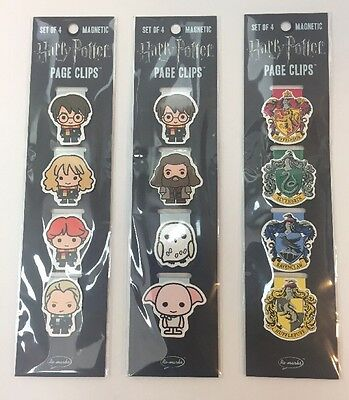 Harry Potter Re-Marks Magnetic Page Clips Bookmarks (3 Packs) NEW