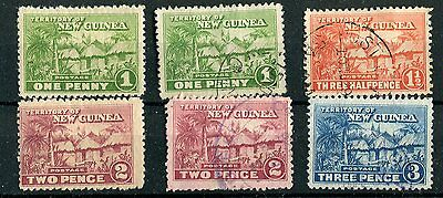 New Guinea 1925-27 some lower values SG126/28 mounted mint & used