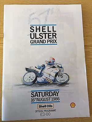 1986 Ulster Grand Prix  Formula One World Motorcycle Championship Programme