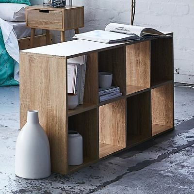 NEW 8 Cube Storage Unit Wood Look