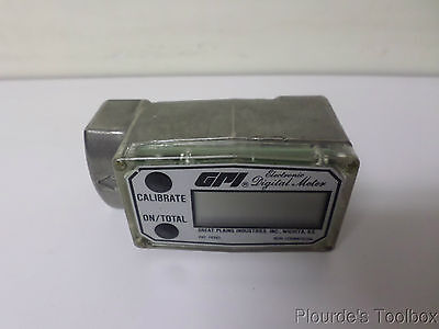 "Unused Great Plains Industries 1"" FNPT Electronic Digital Flow Meter, 3S30GM"