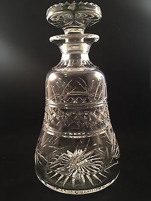 Stunning Stuart Crystal IMPERIAL Cut Bell Shaped Decanter Signed 1st Quality