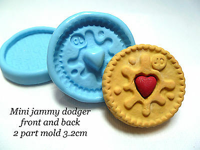 jammy dodger mold jammie cookie silicone mold biscuite craft fimo sculpey clay