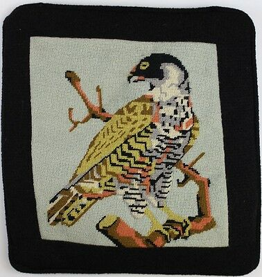 """Needlepoint Hawk Pillow Case"""