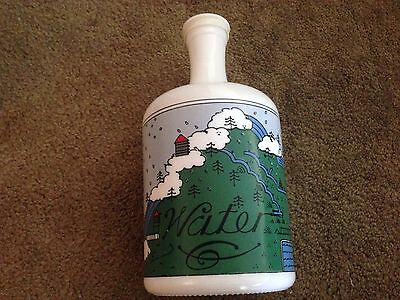 "Lillian  Vernon  Vintage  Country  Decor  Glass Water   Bottle  - 10""  Tall"