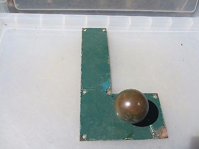 Victorian Bronze Door Handle Knob Finger Push Plate Antique Old Vintage Brass