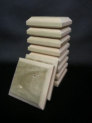 """10 x FLAT FENCE POST CAPS 4"""" x 4"""" x 1""""  TANALISED~TO SUIT 3"""" x 3"""" POSTS"""