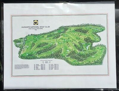 Augusta National Golf Club, Course Layout/Map, Reproduction, FREE Ship Lower 48
