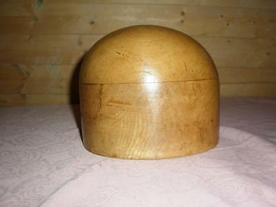 Vintage Wooden Hat Block, Milliners Stand.Shop Diplay