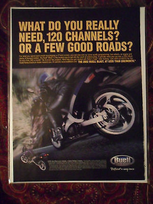 2002 Print Ad BUELL BLAST Motorcycle ~ What Do You Really Need?
