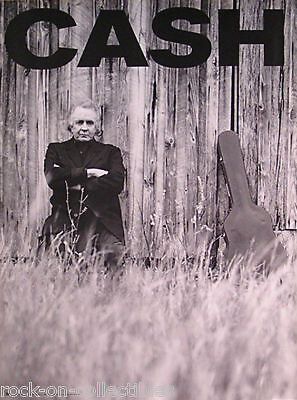 Johnny Cash 1996 Unchained Original Promo Poster