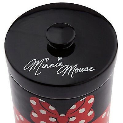 Disney Theme Parks Signed Minnie Mouse Canister Cookie Jar Kitchen Storage Bath