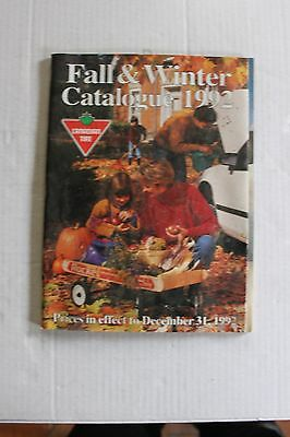 Canadian Tire Fall And Winter Catalogue Magazine 1992