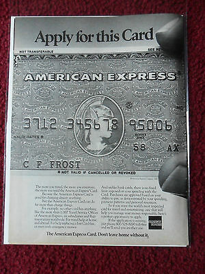 1979 Print Ad American Express Credit Charge Card ~ Roman Soldier Helmet