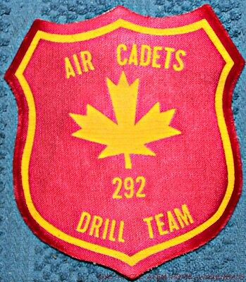 Royal Canadian Air Cadets # 292 Drill Team Patch FREE UNINSURED SHIPPING