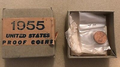 1955 U.s Proof Set In Original Box