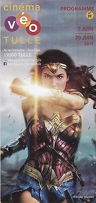 Programme Cinema  - En Titre: Wonder Woman  - 2017 - Depliant / Folder