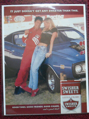 1999 Print Ad Swisher Sweets Little Cigars Vintage Dodge Charger Muscle Car