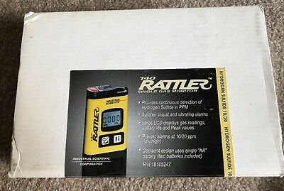 T40 Rattler Single Gas Monitor P/N 18105247 hydrogen sulfide