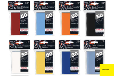 2 X 50 Ultra Pro Card Deck Protector Sleeves - Standard Size Various Colours