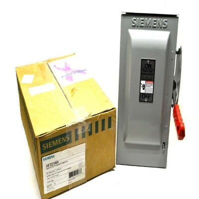 NEW Siemens HF321NR Heavy Duty 30A 3-Pole Fusible Safety Switch 240VAC/250VDC