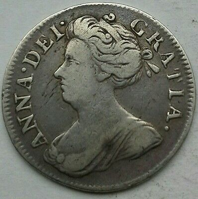 1713 QUEEN ANNE MAUNDY FOURPENCE. NVF CONDITION.   (Ref:28)