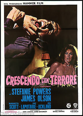 Crescendo Con Terrore Manifesto Cinema Hammer Film Horror 1972 Movie Poster 2F