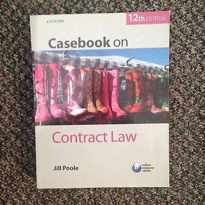 Casebook on Contract Law by Jill Poole 12th Edition