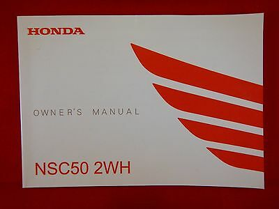 Genuine 2012 2013 Honda Nsc50 Vision Owners Manual Nsc 50 32Ggpc00