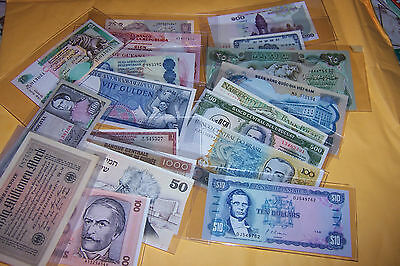 Lot of 20 World Banknotes 19 Countries Un-circulated