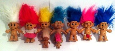 Troll Dolls Forest TnT Family Lot Of 9 Vintage Collectibles Figures Toys